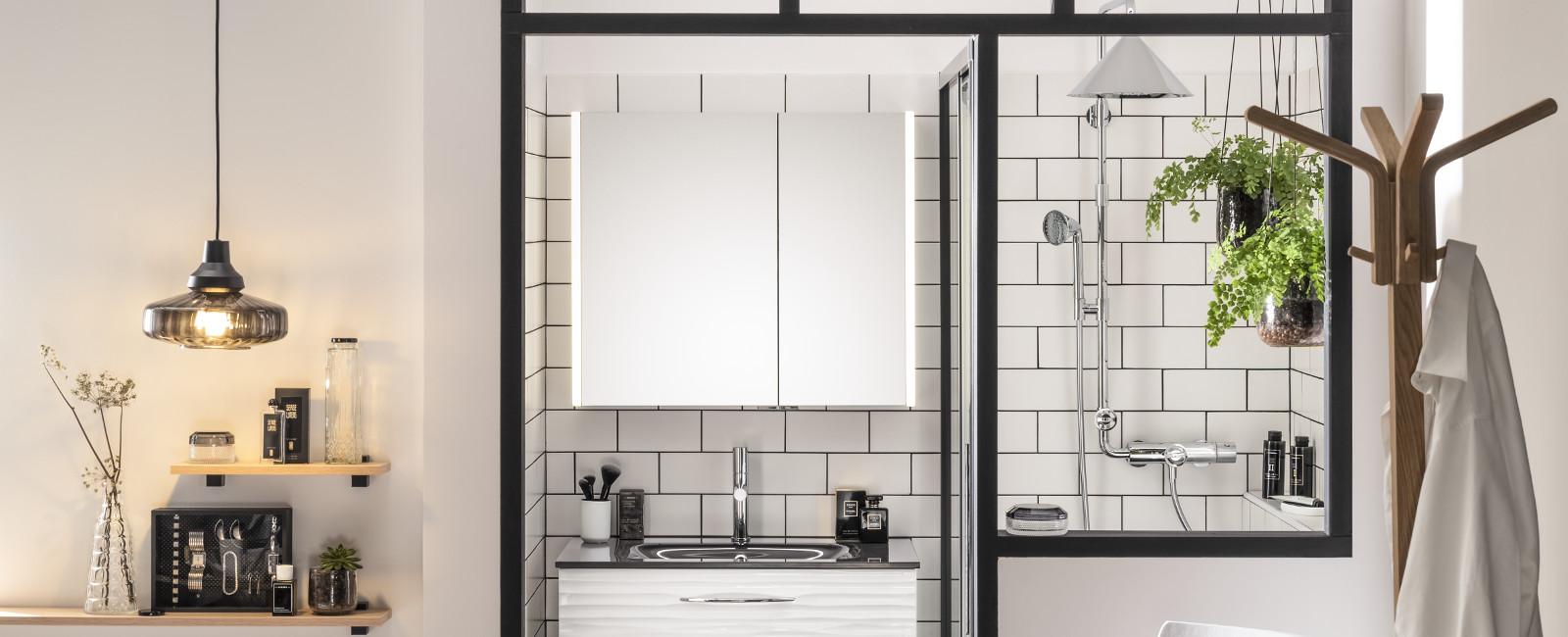 Carrelage Salle De Bain Noir Brillant les tendances carrelages pour la salle de bains | delpha